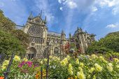 Notre-dame De Paris Gardens In A Summer Sunny Day