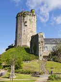 Tower of the ruined 9th century castle at Bricquebec, Cotentin peninsula, Basse-Normandie, France