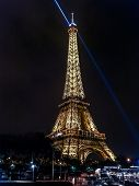 PARIS, FRANCE - AUGUT 25 2013: Eiffel Tower illuminated by night, Paris, France