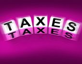 Taxes Blocks Displays Duties And Taxation Documents