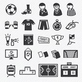 soccer icons set  illustration eps10