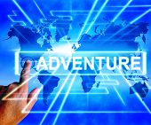 Adventure Map Displays International Or Worldwide Adventure And Enthusiasm