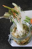 potted vegetable noodles in jar
