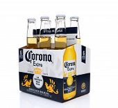 Corona Extra Beer Six Pack Side End View