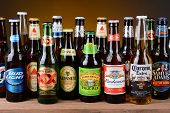 Variety Of Single Beer Bottles