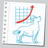 Bullish market ( business growth diagram)