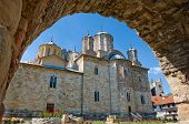 Manasija Monastery side view, Serbia