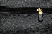 Leather bag zipper