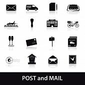 post and mail icons set eps10