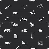 construction icons seamless pattern eps10