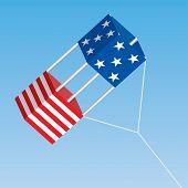 American Patriotic Box Kite