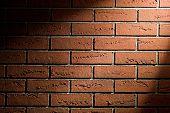 brick wall texture with spot light