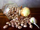 Borlotti Beans, Onion And Garlic
