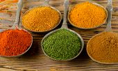 Colourful Dried  Spices