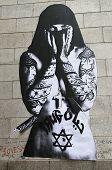 Mural art at DUMBO neighborhood in Brooklyn