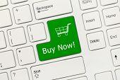White Conceptual Keyboard - Buy Now (green Key)