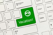 White Conceptual Keyboard - Vacation (green Key)