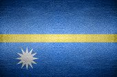 Closeup Screen Nauru  Flag Concept