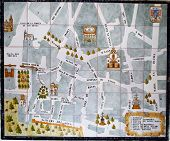 Ceramic tiled city map, Seville.