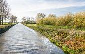 Canal In The Fall Season