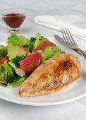 Chicken Schnitzel With Vegetable Garnish