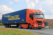 New Iveco Stralis Hi-way Semi Truck On The Road