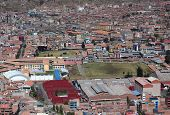 aerial view of Cusco city