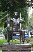 Monument to Soviet singer, songwriter, poet and actor Vladimir Vysotsky in Voronezh