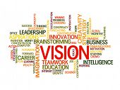business vision concept word cloud