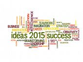 ideas of success in business 2015 word cloud
