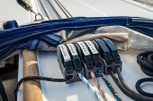 Sailing yacht ropes