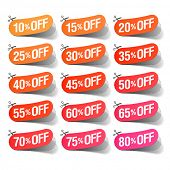 Sale coupons. Easy changeable colors, vector.