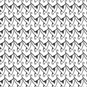 Abstract seamless black and white pattern.