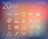 Hipster Outline Icons Set
