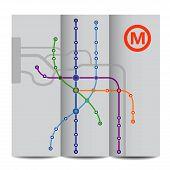 Abstract background of vintage metro scheme