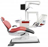 Dental Chair Isolated with Clipping Path
