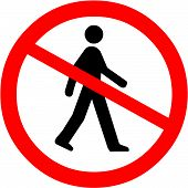 picture of no entry  - Vector Illustration of the No Entry Symbol - JPG