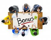 Multiethnic Group of People Discussing Bonus Creativity
