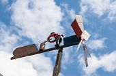 image of rudolph  - vane against the blue sky in the mountain - JPG