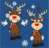 xmas reindeer cartoon expression set03