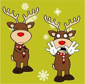 xmas reindeer cartoon expression set6