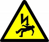 Danger of electrocution Symbol.