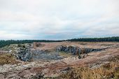 Sand Quarry And With Forest