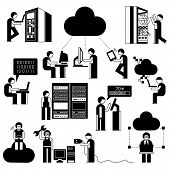 people with cloud computing concept