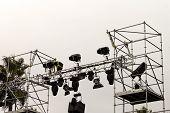 Lighting Technician Placing Spotlights