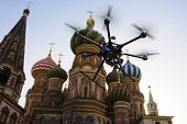 Flying Drone In The Skies Of Moscow
