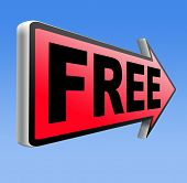Free product trial sample offer or gratis download webshop web shop road sign