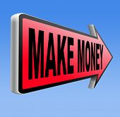 earning money earning cash and make a profit making fast and easy financial progress