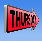 picture of thursday  - thursday sign event calendar  - JPG