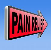pain relief and management by painkiller for back pain or migraine